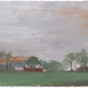 Michael Allen_Millbach Sunrise May 23 2013, oil on paper, 5.75 x 7.625