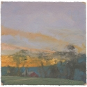 Michael Allen_Millbach Sunrise May 28 2013, oil on paper, 5.625 x 5.75