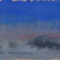 Michael Allen_Millbach Sunrise September 20 2013, oil on paper, 6.125 x 12