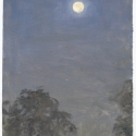 Michael Allen_Millbach Sunrise September 20 2013(moonset), oil on paper, 9.125 x 6.375