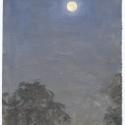 Michael Allen_Millbach Sunrise September 20 2013(moonset), oil on paper, 9.125 x 6.375