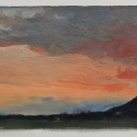 Millbach Sunrise April 14 2014, 2014, oil on paper