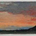 Millbach Sunrise April 14 2014, 2014, oil on paper