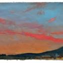 Millbach Sunrise April 21 2014, 2014, oil on paper