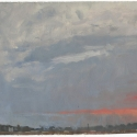 Millbach Sunrise April 22 2014, 2014, oil on paper