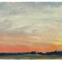 Millbach Sunrise April 28 2014, 2014, oil on paper