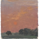 Millbach Sunrise July 2 2014, 2014, oil on paper