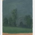 Millbach Sunrise July 8 2014, 2014, oil on paper