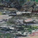 Alice-Kelsey-Downstream-Rock-Run-pastel-on-paper-11.25-x-17.25-inches