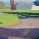 Lou-Schellenberg-Creek-Road-South-oil-on-linen-6-x-12-inches