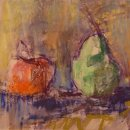 Alice-Kelsey-Apple-and-Pear-pastel-10-x-11-inches