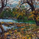 Robert-Bitts-Autumn-River-View-acrylic-on-canvas-30-x-65-inches-5000