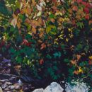 Robert Bitts Kelly Run Grotto acrylic on canvas 63 x 31.5 inches 5000
