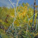 Robert Bitts Meadow Overlook acrylic on canvas 22.5 x 31 inches 1800