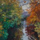 Robert Bitts Serene acrylic on canvas 63 x 36 inches 5500