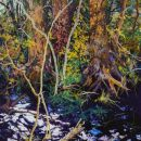 Robert Bitts Woodland Trio acrylic on canvas 63 x 34.25 inches 5000
