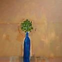 Blue Bottle acrylic on canvas 16 x 20 inches