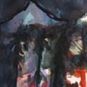 Robert Lyon - The Matterhorn watercolor 13.5x10.5