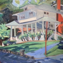 Ruth Bernard  Pine and Front-Mt. Gretna  oil on linen 24 x 32 inches