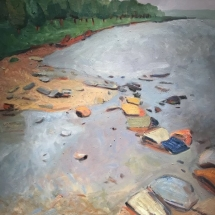 Ruth Bernard  Susquehanna Shoreline  oil on linen 28 x 30 inches