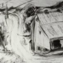 Smithville Farm  Charcoal on Paper  16.75 x 22.50 inches