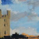 John David Wissler Helmsley oil on paper 5.5 x 8.75 inches
