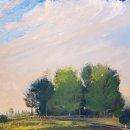 John David Wissler The Barrow on Hampstead Heath oil on linen 20 x 30 inches