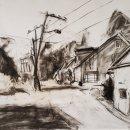 Ruth Bernard Church Street Rohrerstown Charcoal 17 x 32.5 inches