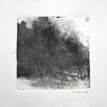 Monotype Maine No. 9  black ink on paper