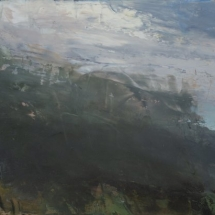 A Mountain Song  oil on board  6 x 12 inches