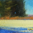 KOCHER Warm Grasses Oil on Board 6 x 12 inches