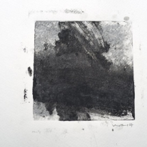 Monotype Maine No. 2  black, water-based ink on paper