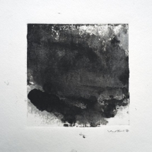 Monotype Maine No. 3  black, water-based ink on paper