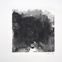 Monotype Maine No. 4  black, water-based ink on paper