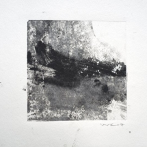 Monotype Maine No. 6  black, water-based ink on paper