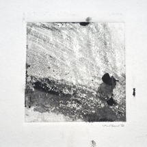 Monotype Maine No. 7  black, water-based ink on paper