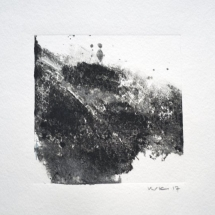 Monotype Maine No. 8  black, water-based ink on paper