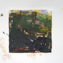 Monotype No. 4  color, water-based ink & gouache on paper