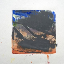 Monotype No. 5  color, water-based ink & gouache on paper