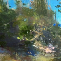 William Kocher  Atlantic Garden  oil on board  6 x 12 inches