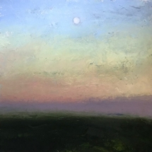 William Kocher  Moonrise  oil on board  36 x 36 inches