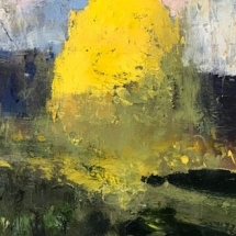 William Kocher  Stay Gold  oil on board  6 x 12 inches