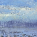shade mountain in winter oil on board 8x24