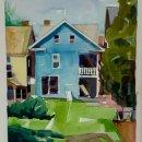 Lou-Schellenberg-Anneville-Yard-watercolor-on-paper-700