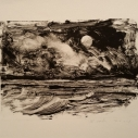 John David Wissler  Atlantic Moon  Monotype  5 x 7 inches