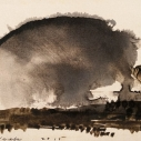 John David Wissler  Middle Cumulus  Ink on Paper  4.5 x 6.5 inches