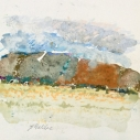 John Edward Heliker, Landscape, mixed medium, 10 x 10.875 inches