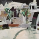 Abstract Buildings I Oil on Paper 22 x 30 inches